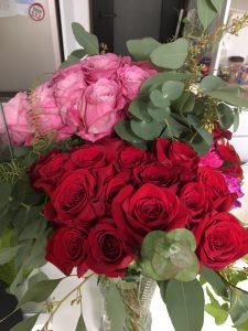 これまでお世話になった方から花をたくさんいただきました。
