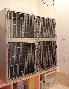調布の動物病院、ほほえみ動物病院の入院室兼ホテルは犬と猫を部屋ごと分けていますので、落ち着いて過ごすことができます。